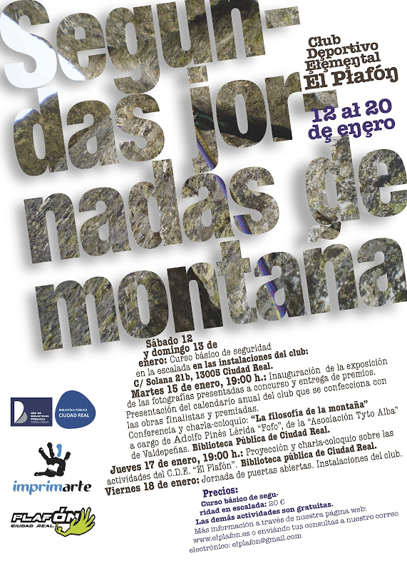 Cartel jornadas plafon 2013