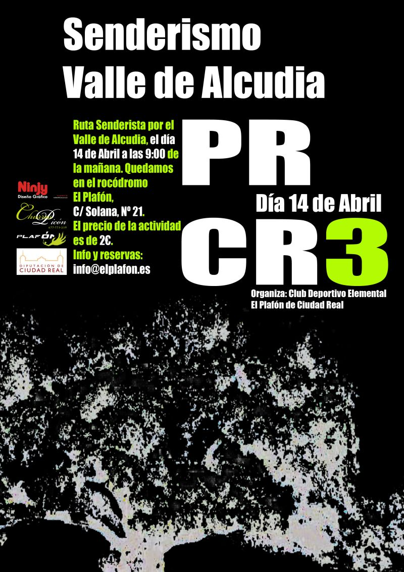 Cartel Senderismo Valle Alcudia