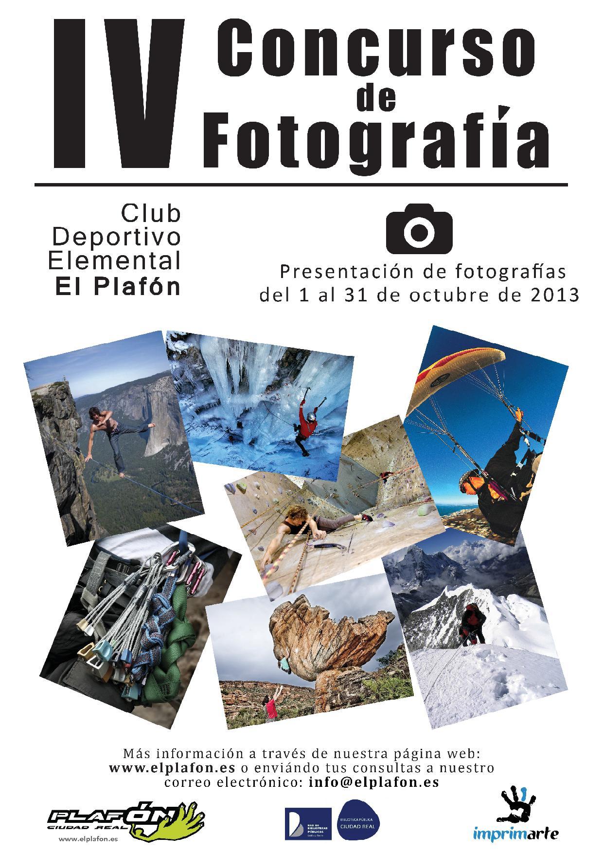 Cartel concurso fotografía El Plafon 2013